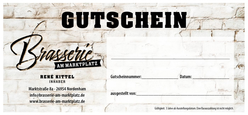 Gutschein Brasserie